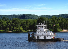 Tugboat On The Mississippi River