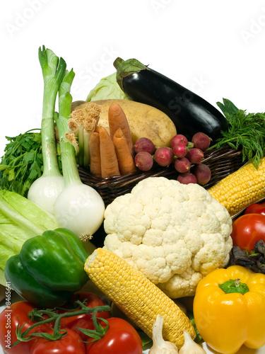 Keuken foto achterwand Waterverf Illustraties Healthy eating. Vegetables selection