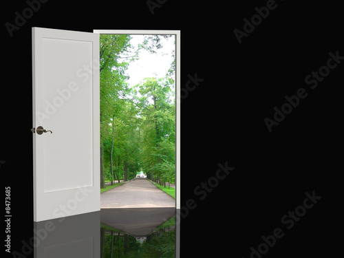 Fotografía  Door open in the real world