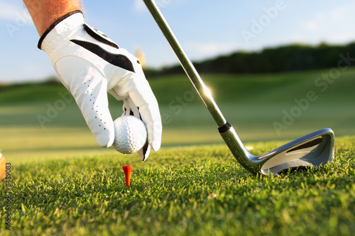 Deurstickers Golf golf tee