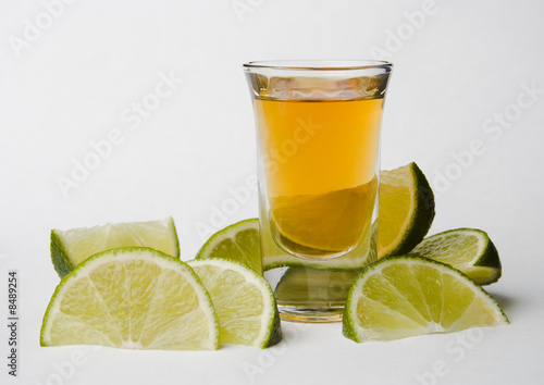 Fotografie, Obraz  Tequila with limes