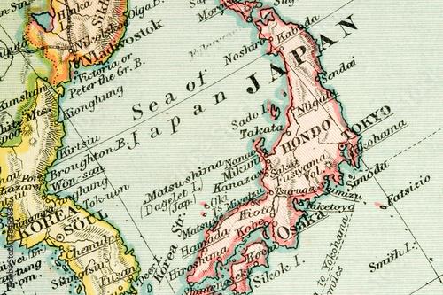 Fototapeta premium Antique Map (expired copyright)
