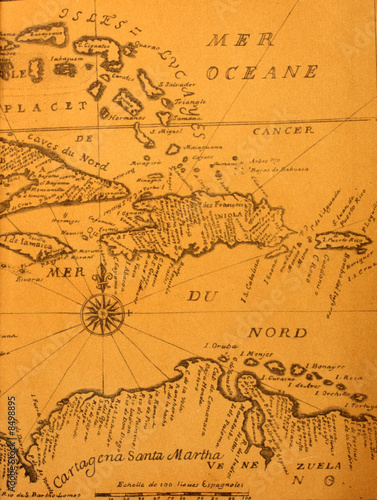 Cadres-photo bureau Amérique du Sud Ancient map
