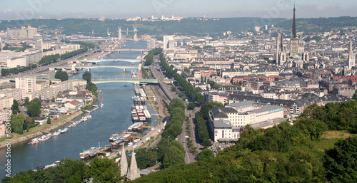 Fotografia  Panoramique de la Seine à Rouen