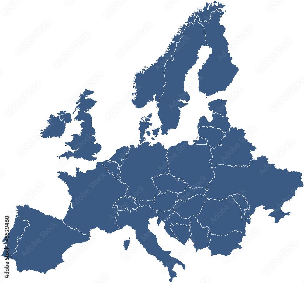 Fototapety, obrazy: Europakarte