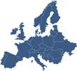 canvas print picture - Europakarte