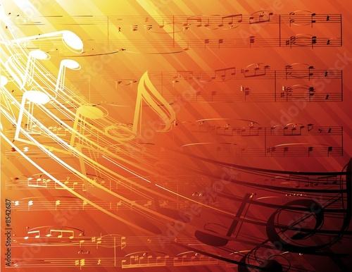 Foto-Stoff bedruckt - musical background (von Kundra)