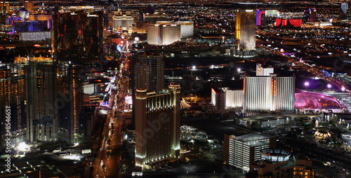 Poster de jardin Las Vegas Las Vegas at night panorama