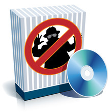 Box With Anti-spy Sign And CD