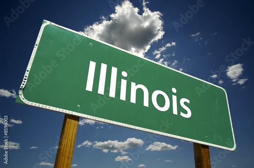 Fototapeta Illinois Road Sign