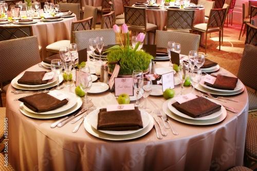 Fotografía  An elaborate table setting at a reception