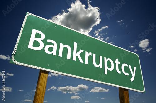 Fotografía Bankruptcy Road Sign