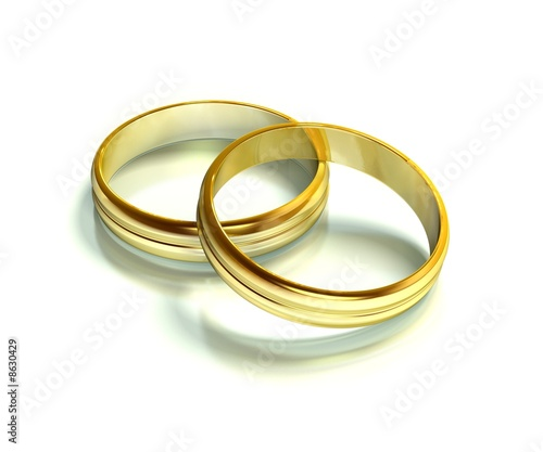 Zwei Ringe 02 Gold Hochzeit Buy This Stock Illustration And