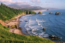 Crescent Beach At Ecola State Park, Oregon