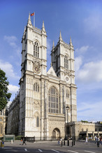 Westminster Abbey Front Facade...