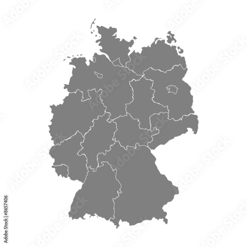 Fotografie, Obraz  karte deutschland