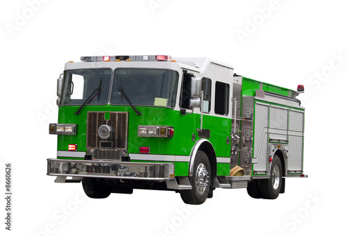 Photo sur Toile Pixel Firetruck Isolated