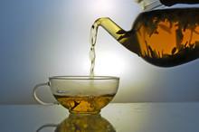 Glass Teapot And Tea Cup
