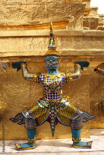 Demon and stupa