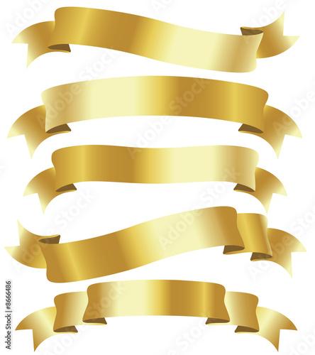Fototapeta golden ribbons