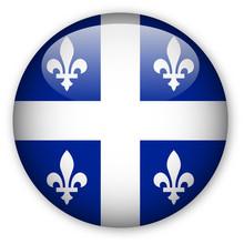 Quebec Flag Button