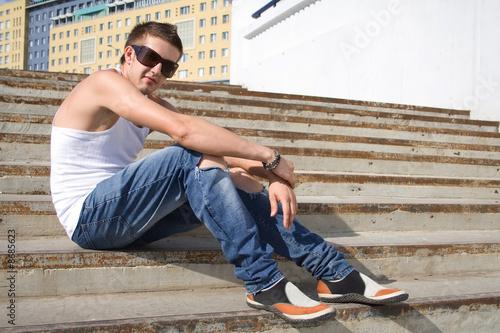 Fototapeta Man outdoors obraz na płótnie