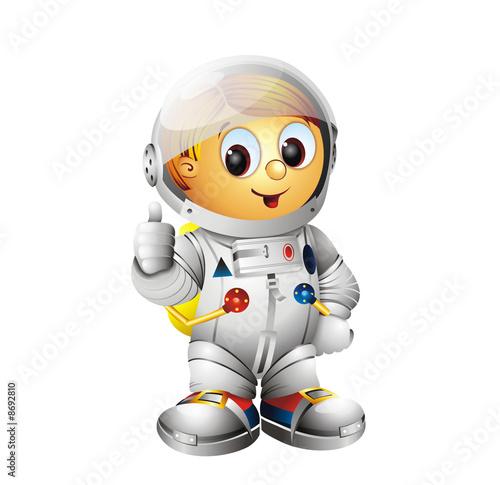 Foto-Plissee - Spaceman Character Astronaut (von zaharch)