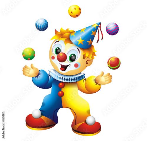 Foto-Plissee - Juggling Clown (von zaharch)