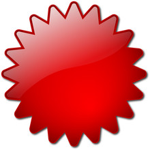 Red Star-shaped Button