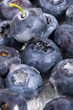 Frozen blueberries texture