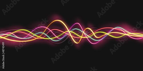 Staande foto Fractal waves light effect