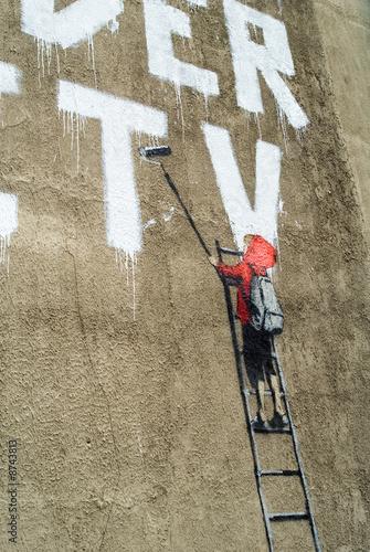 Photo  Bansky Graffiti Detail