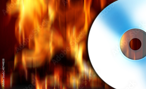 In de dag Grill / Barbecue CD on fire