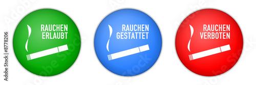 Fotografía buttons rauchen verboten gestattet erlaubt