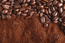 Coffee Beans And Ground, Perfe...