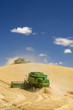 canvas print picture Two Combines Harvesting Wheat