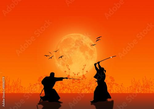 Foto  Samurai Silhouette