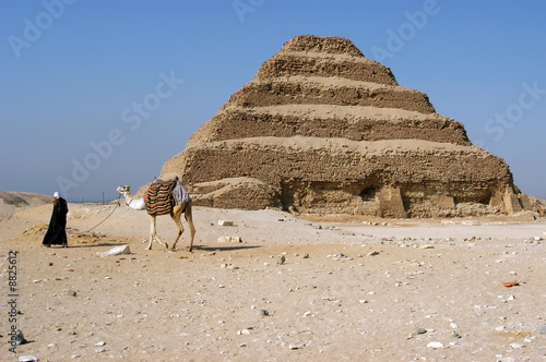 In de dag Egypte Ancient step pyramid of Djoser (Zoser), Saqqara, Egypt