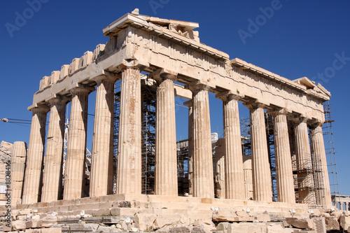 Fotobehang Athene details of Parthenon, Acropolis in Athens – Greece