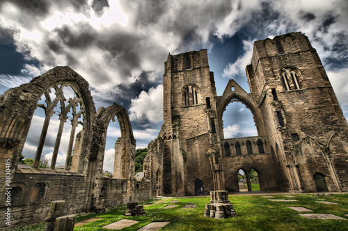 Elgin Cathedral Ruins Tablou Canvas