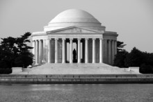 The Thomas Jefferson Memorial From Across The Tidal Basin.