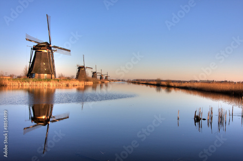 Line of Windmills Canvas