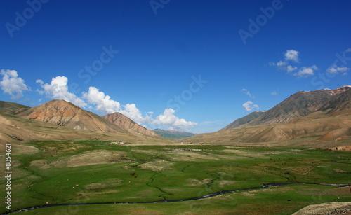 Valokuva  kirghizistan, vallee, steppes et desert