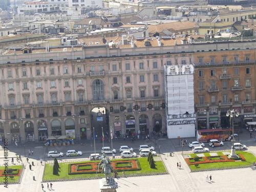 Plaza del Duomo desde el tejado de la catedral de Milan