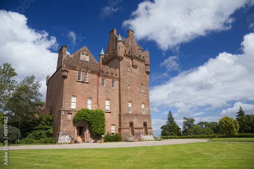 Brodick Castle in Arran on a summer day Canvas Print