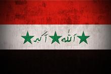 Weathered Flag Of Iraq, Fabric...