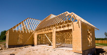 A New Home Being Built With Wo...