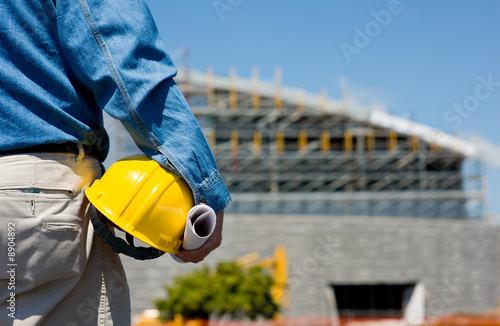 Fototapety, obrazy: A construction worker or foreman at a construction site