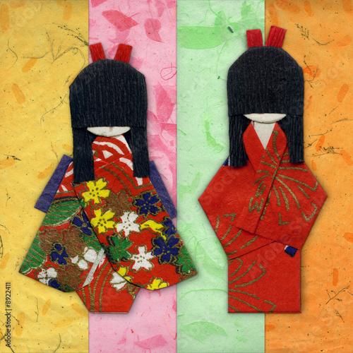 dwa-geisha-origami-przyjaciele-na-kolorowych-handpapers
