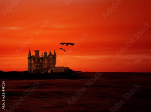 Cadres-photo bureau Brique paysage Halloween